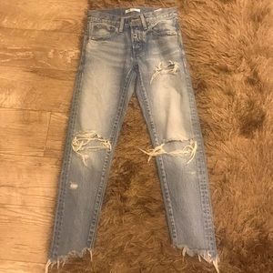 MOUSSY denim ripped jeans